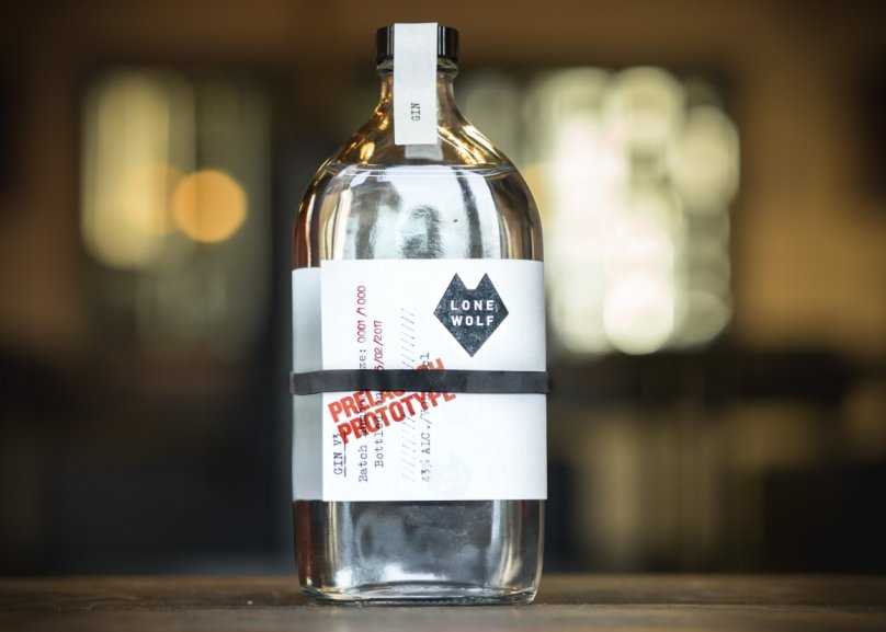 Pharma Bottle Gives LoneWolf Spirits' Prototype Gin Craft Appeal