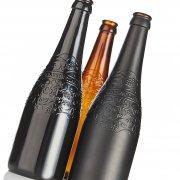 Black Matt and Gloss Glass bottles spray coated