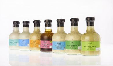 Beatson Clark Creates Smaller Stylish Bottle for M&S Dressings