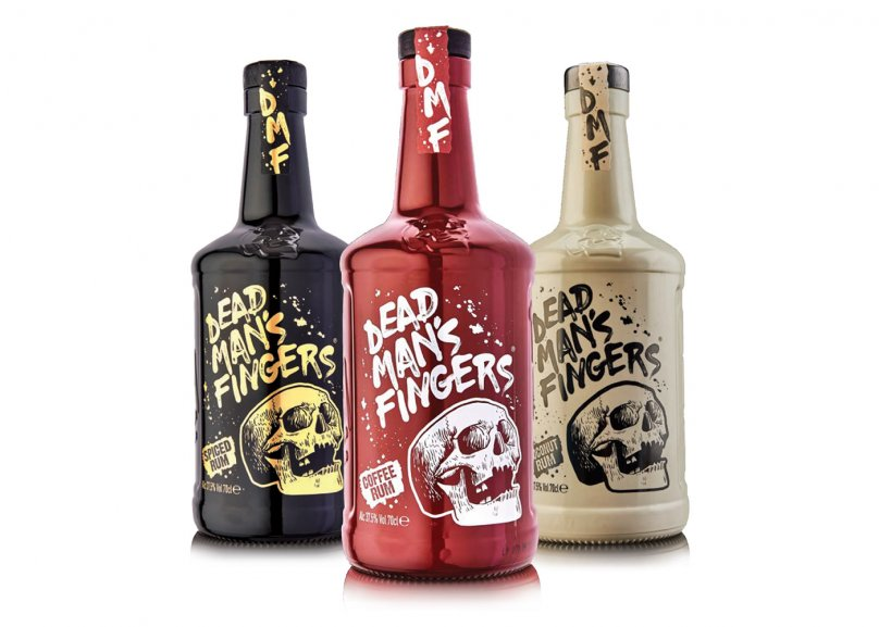 Embossed Bottle Gives New Look to Dead Man's Fingers