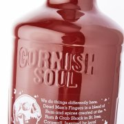 Cornish Soul Embossing on glass bottle
