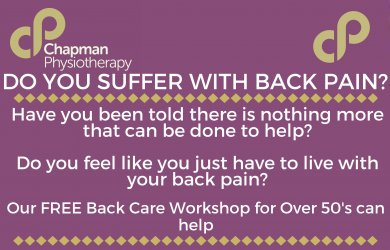 FREE Back Pain Workshop for Over 50's