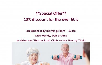 ** SPECIAL OFFER ** 10% Discount for the over 60's on Wednesday Mornings