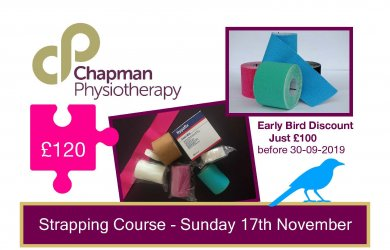 Strapping Course - Sunday 17th November, with Early Bird Discount!